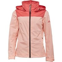 adidas Womens Wantertag Two Layer Colour Block Jacket Tac Pink/Haze Coral