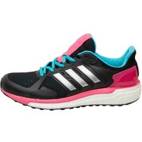 adidas Womens Supernova ST Boost Stability Running Shoes Core Black/Silver Metallic/Shock Pink