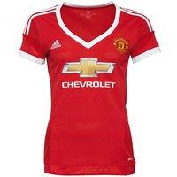adidas Womens MUFC Manchester United Home Shirt Red/White/Black