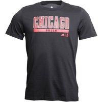 adidas Mens Chicago Bulls GFX T-Shirt Black