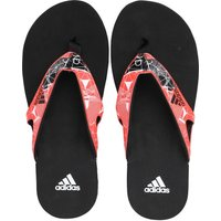 Adidas Mens Calo 5 Graphic Flip Flops Black/solar Red