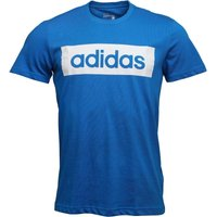 adidas Mens Sport Essentials Linear Logo T-Shirt Shock Blue