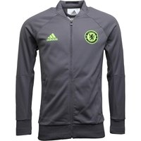 adidas Mens CFC Chelsea Anthem Jacket Granite/Safety Yellow/Black