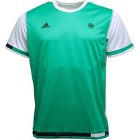 adidas Mens Roland Garros Climacool Tennis Top Core Green/White
