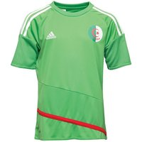Adidas Boys Algeria 3 Stripe Climacool Top Green/red/white