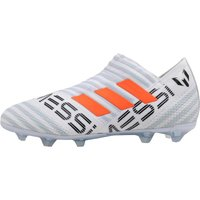 adidas Junior Nemeziz MESSI 17+ 360 Agility FG Football Boots White/Solar Orange/Clear Grey