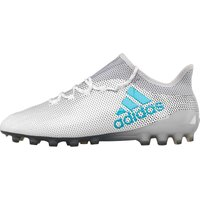 Adidas Mens X 17.1 Ag Football Boots White/energy Blue/clear Grey