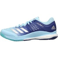 Adidas Mens Crazyflight X Volleyball Shoes Ice Blue/silver Metallic/mystery Ink