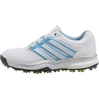 Adidas Womens Adipower Boost 2.0 Golf Shoes White/soft Blue/sunny Lime