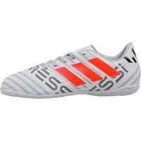 adidas Junior Nemeziz MESSI 17.4 IN Football Boots White/Orange/Clear Grey
