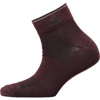 adidas Running Light Ankle Socks One Pair Dark Burgundy/Black/Reflective Silver