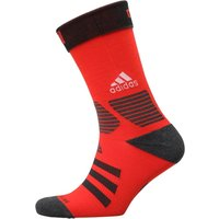 Adidas Ace Crew Socks One Pair Red/dark Grey Heather/black