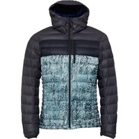 Adidas Mens Climaheat Frost Printed Jacket Mineral Blue/utility Black/white