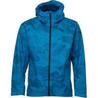 Adidas Mens All Outdoor Printed Wandertag Jacket Bold Aqua/blue Night