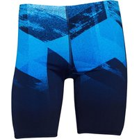 Adidas Mens Infinitex+ 3 Stripe Long Length Swim Boxers Navy/shock Blue