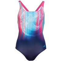 Adidas Womens Infinitex+ Parley Swimsuit Noble Ink/energy Blue/energy Aqua