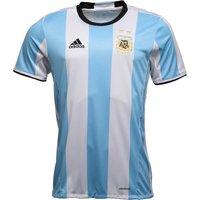adidas Mens AFA Argentina Home Shirt Clear Blue/White/Black