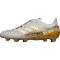 adidas Mens Predator Malice Control FG Rugby Boots Footwear White/Gold Metallic/Footwear White