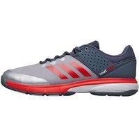 adidas Mens Court Stabil Handball Shoes Onix/Hi-Res Red/Raw Steel