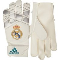 adidas Boys RMCF Real Madrid Young Pro Goalkeeper Gloves Vivid Teal/Silver Metallic/White