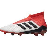 adidas Junior Predator 18+ FG Football Boots Footwear White/Core Black/Real Coral