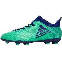 adidas Junior X 17.3 FG Football Boots Aero Green/Unity Ink/Hi-Res Green