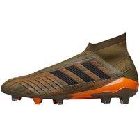 adidas Mens Predator 18+ FG Football Boots Trace Olive/Core Black/Bold Orange