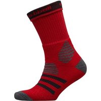 adidas Basketball ID Crew Socks Power Red/Dark Grey Heather/Black