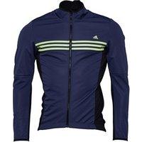 adidas Mens Response Warmtefront Cycling Jacket Midnight Grey/Black/Frozen Yellow
