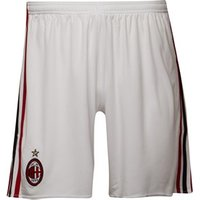adidas Mens AC Milan Football Shorts White/Victory Red/Black