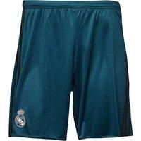 adidas Mens RMCF Real Madrid Third Football Shorts Petrol Night/Solid Grey/White