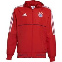 adidas Mens FC Bayern Munich Presentation Jacket FCB True Red/White