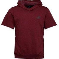 adidas Mens Cross-Up Short Sleeve Hoodie Collegiate Burgundy/Maroon