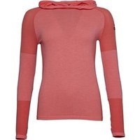 adidas Womens Climaheat Primeknit Hooded Long Sleeve T-Shirt Easy Coral/Black