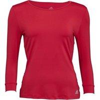 adidas Womens Advantage 3/4 Sleeve Tennis T-Shirt Energy Pink