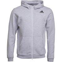 adidas Mens Cross-Up Full Zip Hoodie White/Grey Two