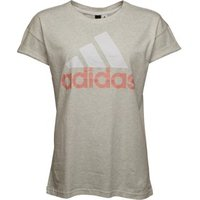 adidas Womens Essentials Linear Loose T-Shirt White Heather