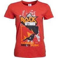 adidas Womens Rock Stars Short Sleeve T-Shirt Tactile Red