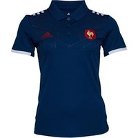 adidas Womens France 2017 FFR Presentation Rugby Polo Tech Steel/White/Power Red