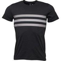 adidas Mens 3-Stripes T-Shirt Black