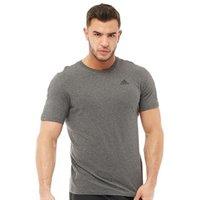 adidas Mens Essentials Base T-Shirt Dark Grey Heather