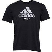 adidas Mens Paris T-Shirt Black