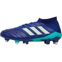 adidas Mens Predator 18.1 SG Leather Rugby Boots Unity Ink/Aero Green/Hi-Res Green