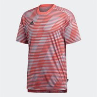 adidas Mens Tango Short Sleeve Football Shirt Real Coral