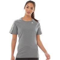 adidas Womens Fitness T-Shirt Grey Four