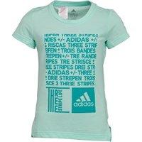 adidas Girls Training Graphic T-Shirt Clear Mint/Hi-Res Aqua