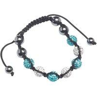 Teenage Cancer Trust Shamballa Bracelet White/Aqua