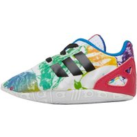 adidas Originals Baby Girls ZX FLUX Crib Shoes White/Core Black/Bold Pink