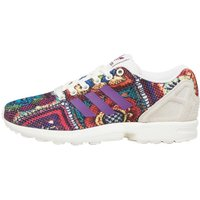 adidas Originals Womens ZX Flux X The Farm Company Trainers Off White/Off White/Mid Grey