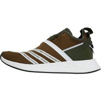 adidas Originals x White Mountaineering Mens NMD_R2 Primeknit Trainers Trace Olive/Footwear White/Footwear White